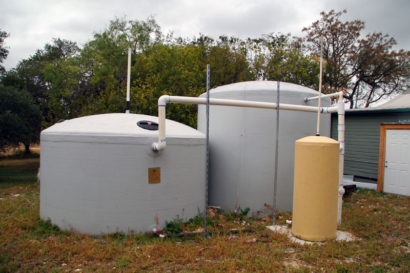 Typical Residental Tanks A Of Rainwater Collection