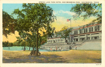 A Nice View Of The 26 Room Spring Lake Park Hotel Built By B Rogers Site Was Operated As Por Resort For Two Decades Before Aquarena